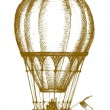 Hot air balloon — Stockvektor