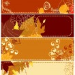 Autumnal banners — Stock Vector #4043727