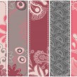 Vertical floral banners — Stock Vector #4043737