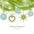 Stylish Christmas background - Image vectorielle