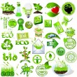 Bio and eco logos - Stok Vektör