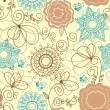 patrón floral retro — Vector de stock