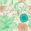 Retro floral background — Imagen vectorial