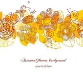 Sfondo fiori autunnali — Vettoriale Stock