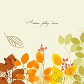 Autumn falling leaves — Vector de stock