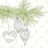 Stylish Christmas background — Stock Vector