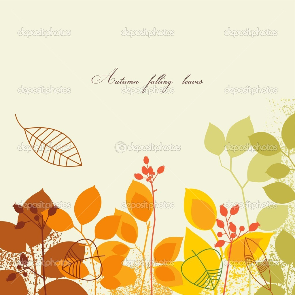 Autumn falling leaves background — Stock Vector #4043680