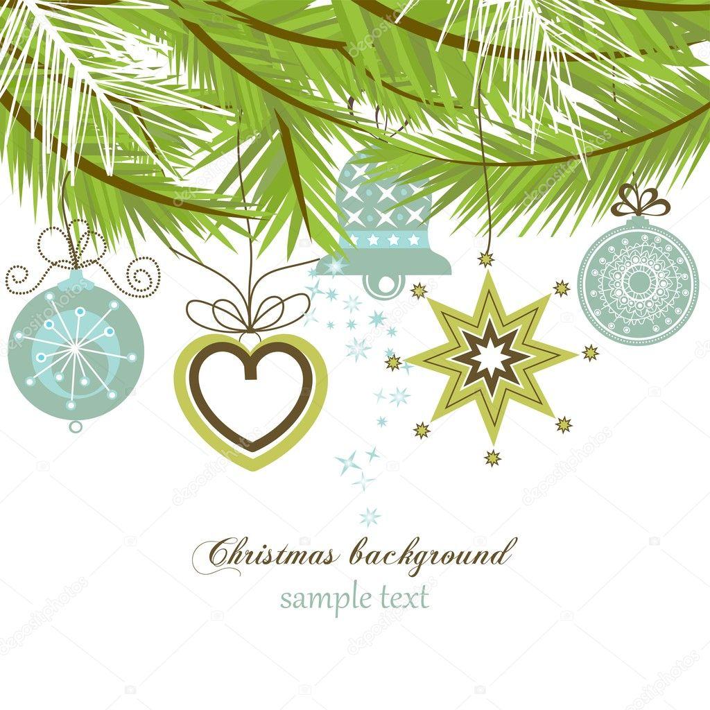 Fondo de Navidad con estilo — Vector de stock © Danussa ...