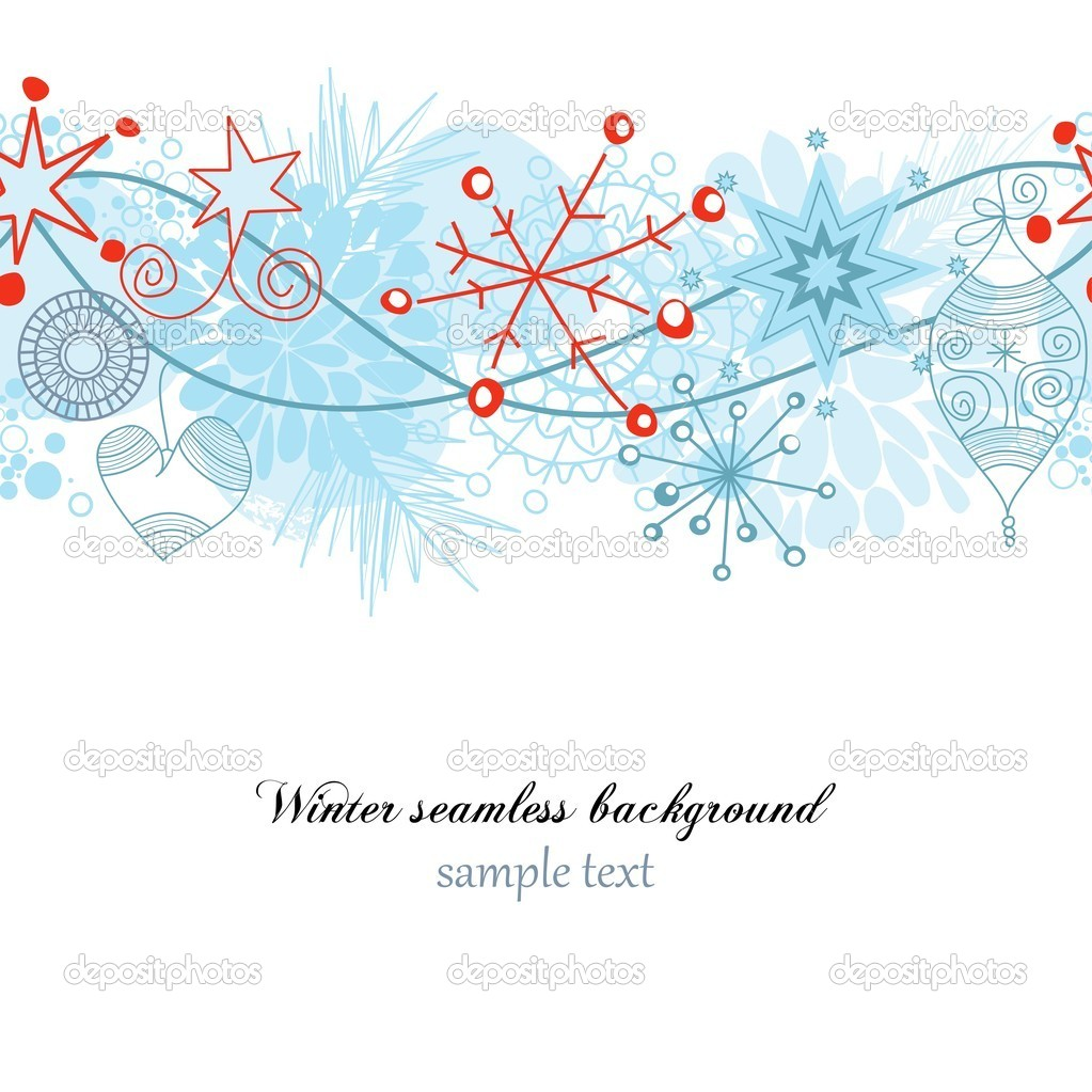 Winter seamless background   Stock Vector #4043869