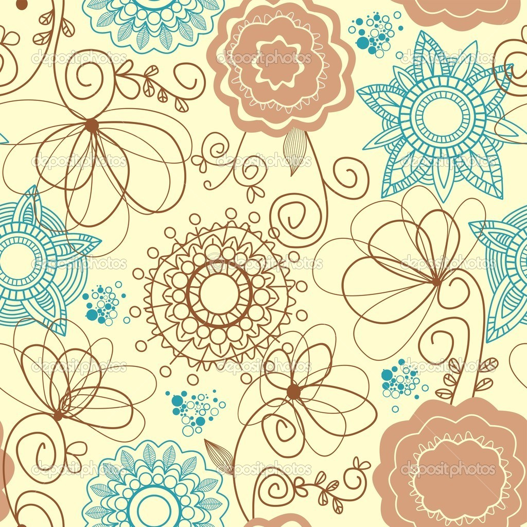 Retro floral seamless background — Stock Vector #4043949