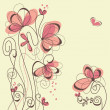 Royalty-Free Stock Vector Image: Cute floral background