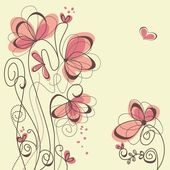 Cute floral background — Vetor de Stock