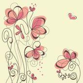 かわいい花の背景 — ストックベクタ