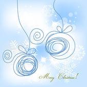 クリスマスの背景 — ストックベクタ