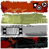 Grunge banners — Stock Vector