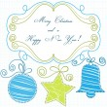 Decorative Christmas frame — Stock Vector #4483536