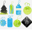 Stylish Christmas price tags - Stock Vector