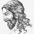 Jesus&#039; gentle sight - Stock Vector