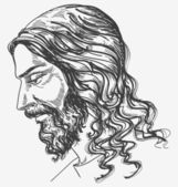 Jesus' gentle sight — Stock Vector