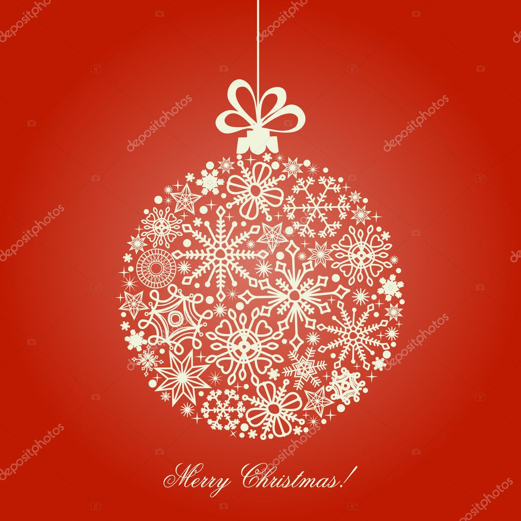Christmas ball, snowflakes pattern  — Stock Vector #4504335