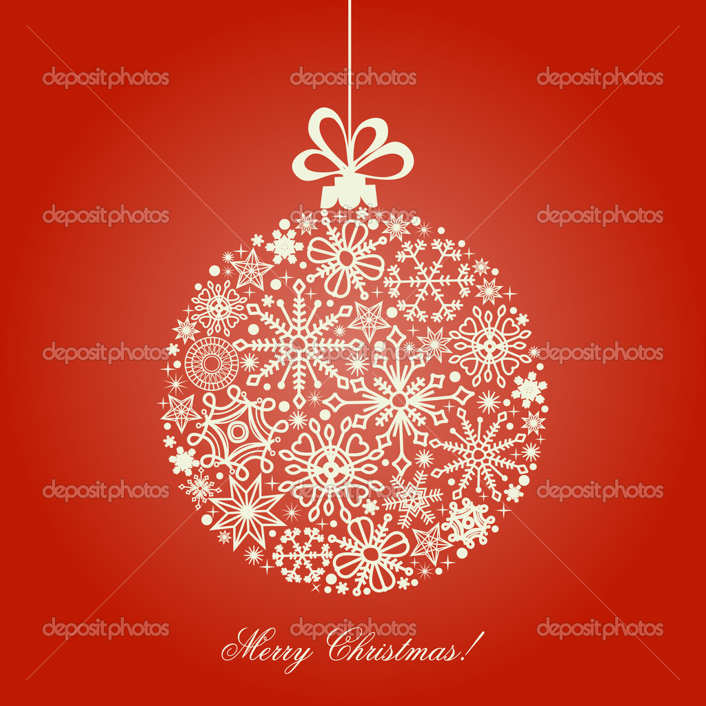 Christmas ball, snowflakes pattern  — Stockvectorbeeld #4504335