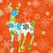 Decorative Christmas deer — Stock Vector #4522169