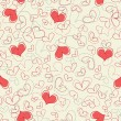 Hearts seamless pattern - Grafika wektorowa
