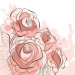 Grunge roses — Stock Vector