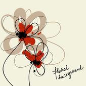 Lindo fondo floral — Vector de stock