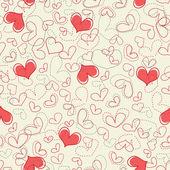 Modèle sans couture de coeurs — Vecteur