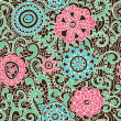 Floral seamless pattern — Stockvectorbeeld
