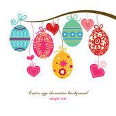 Easter eggs background — Vector de stock