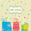 Happy birthday card — Stockvektor