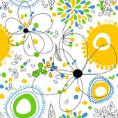 Bahar çiçek seamless modeli — Stok Vektör