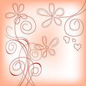 Mão desenhada floral fundo — Vetorial Stock