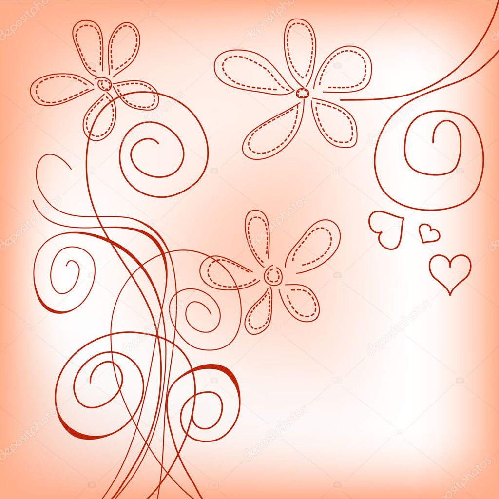Hand drawn floral background  — Grafika wektorowa #5258670