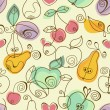 Royalty-Free Stock Vector Image: Cute fruits seamless background