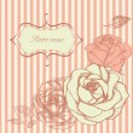 Retro roses corner — Stock Vector