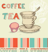 Coffee and tea menu — Stock Vector