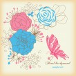 Vintage floral background — Stock Vector #5333174