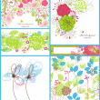 Floral backgrounds - Stockvectorbeeld