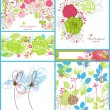Floral backgrounds - Image vectorielle