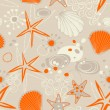 Royalty-Free Stock Imagem Vetorial: Beach seamless pattern