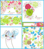 Floral backgrounds — Vecteur