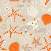 Beach seamless pattern — Stock Vector