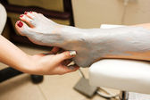 Feet treatment — Stock Photo