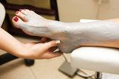 Feet treatment — Stock Photo