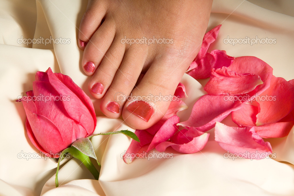 Woman pedicure arranged  Stock Photo #4287230