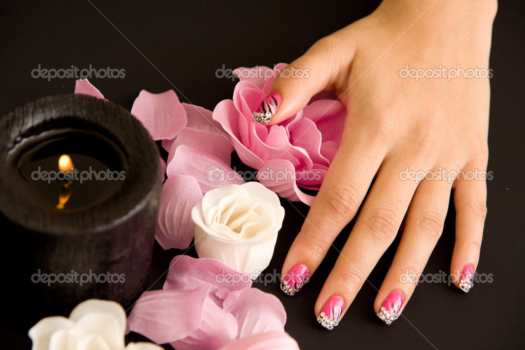 Woman manicure arranged — Photo #4287356