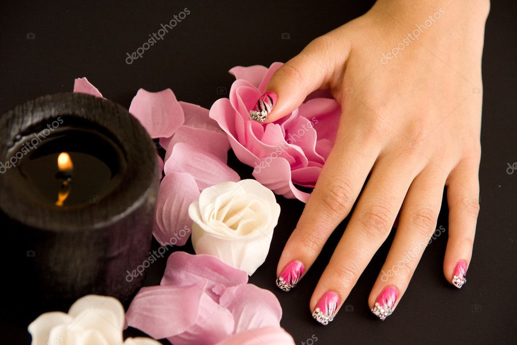 Woman manicure arranged — Stock Photo #4287356